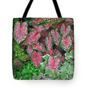 Shades Of Pink And Green And A Hint Of Purple Tote Bag