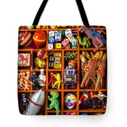 Shadow Box Full Of Toys Tote Bag