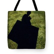 Shadow Carrying Art Portfolio And Drinking A Soda Tote Bag
