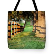 Shadow Fencing Tote Bag
