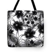 Shadow Flowers Tote Bag