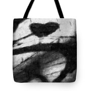 Shadow Heart Graphite Drawing Tote Bag