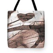 Shadow Heart Pink Powder Tote Bag