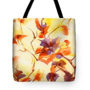 Shadow Leaves Tote Bag