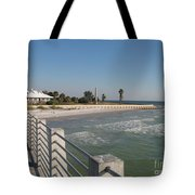 Shadow On The Pier Tote Bag
