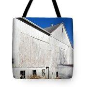 Shadow On White Barn Tote Bag