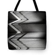 Shadow Play - Black And White Tote Bag