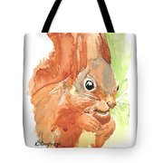 Shadow Tail Red Squirrel Tote Bag