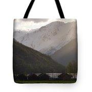 Shadowing The Peaks Tote Bag