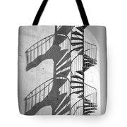 Shadowplay- Spiral Stairs Tote Bag