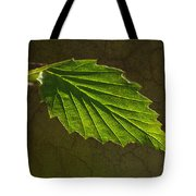 Shadows And Light Of The Leaf Tote Bag