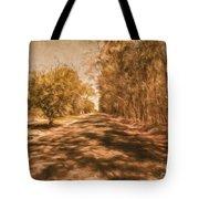 Shadows On Autumn Lane Tote Bag