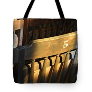 Shadows On Chairs Tote Bag