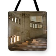 Shadows On Chateau Chambord Stairs Tote Bag