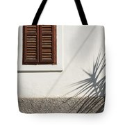 Shadows On Old House. Tote Bag