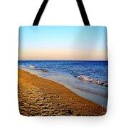 Shadows On Sand Beach Tote Bag