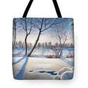 Shadows On The Snow Tote Bag