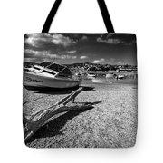 Shaldon Beach In Mono  Tote Bag