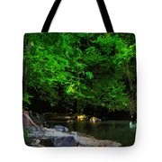 Shall We Gather At The River Tote Bag