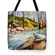 Shallow Water Rapids Tote Bag