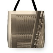 Shanghai Building In Abstract Tote Bag