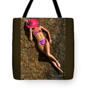 Shannon Pink Hat Tote Bag