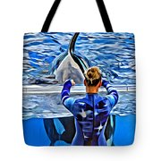 Shapely Orca Tote Bag
