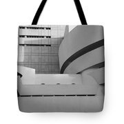 Shapes Of The Guggenheim In Black And White Tote Bag