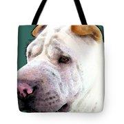 Shar Pei Art - Wrinkles Tote Bag