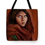 Sharbat Gula Tote Bag