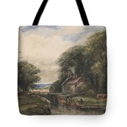 Shardlow Lock With The Lock Keepers Cottage Tote Bag by James Orrock