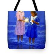 Sharing A Sparkler  Tote Bag