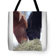 Best Buddies Sharing A Delicious Meal Tote Bag