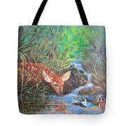 Sharing The Pond Tote Bag
