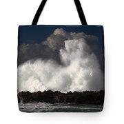 Sharks Cove Crashing Wave Tote Bag