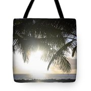 Sharks Cove Sunset Tote Bag by Brandon Tabiolo