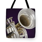 Sharp Silver Trumpet Tote Bag