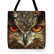 Sharpie Owl Tote Bag by Ayse Deniz