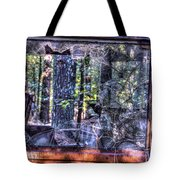 Shattere Side School Bus Window Tote Bag