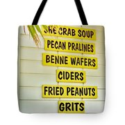 She Crab Soup And Fried Peanuts Tote Bag