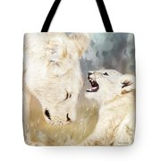 She Listens - Square Format Tote Bag