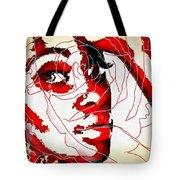 She Pop Art Rose Tote Bag