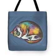 She Purrs In Color Tote Bag