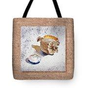 She Sells Sea Shells Decorative Collage Tote Bag