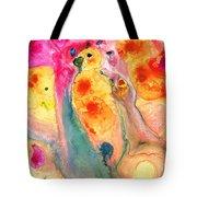 She Sings - Yellow Bird Art By Sharon Cummings Tote Bag