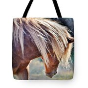 She Tossed Her Mane - Wild Pony Of Assateague Tote Bag