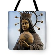 She Watches Over The World Tote Bag