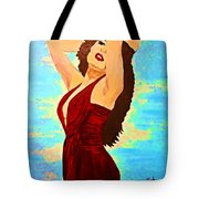 Woman In A Red Dress 1 Tote Bag