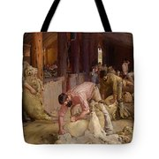 Shearing The Rams  Tote Bag