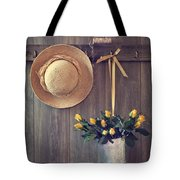Shed Door Tote Bag by Amanda Elwell